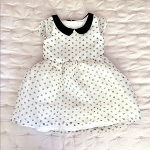 1989 Place Black And White Heart Print Dress